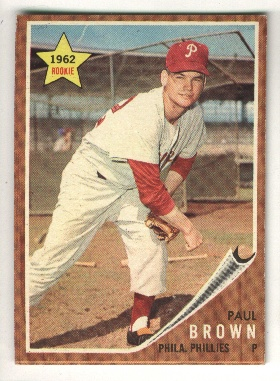 1962 Topps #181 Paul Brown RC