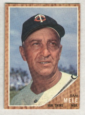 1962 Topps #482 Sam Mele MG