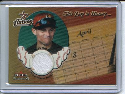 2002 Fleer Tradition Update This Day In History Game Used #2 Craig Biggio Jsy