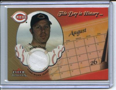 2002 Fleer Tradition Update This Day In History Game Used #7 Adam Dunn Jsy