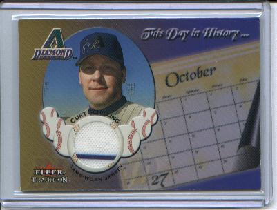 2002 Fleer Tradition Update This Day In History Game Used #17 Curt Schilling Jsy