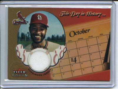2002 Fleer Tradition Update This Day In History Game Used #18 Ozzie Smith Jsy