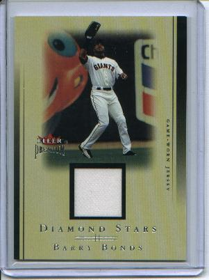 2002 Fleer Premium Diamond Stars Game Used #1 Barry Bonds Jsy