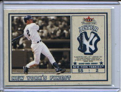 2002 Fleer Tradition Update New York's Finest Single Swatch #6 D.Jeter Jsy/Komiyama