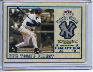 2002 Fleer Tradition Update New York's Finest Single Swatch #7 R.Ventura Jsy/Alfonzo
