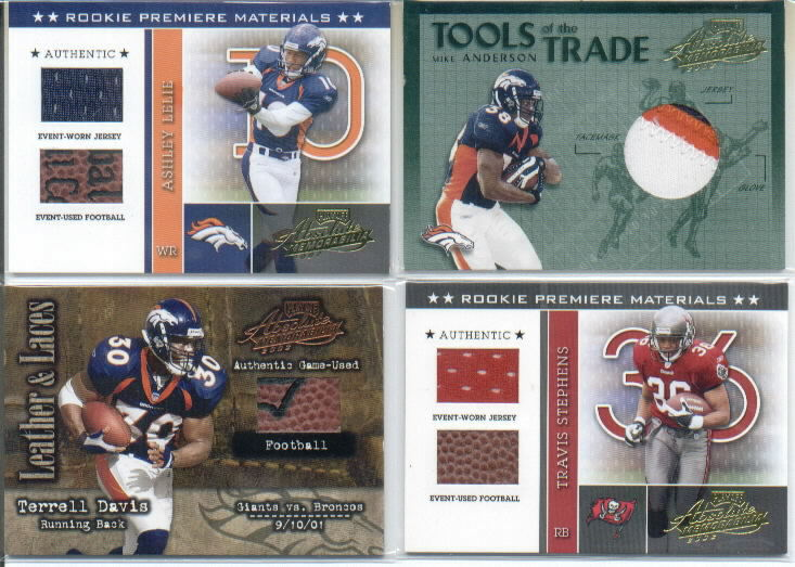 2002 Absolute Memorabilia Leather and Laces #LL25 Terrell Davis