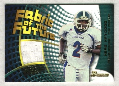 2002 Bowman Fabric of the Future #FFHG Herb Haygood B