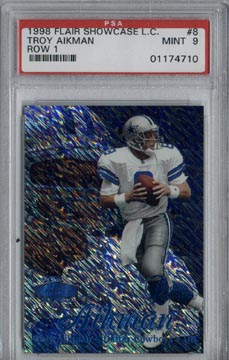 1998 Flair Showcase Football #8 Troy Aikman Legacy Collection PSA Mint 9 #093/100 Dallas COWBOYS!!!!