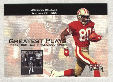 2001 Fleer Premium Greatest Plays #4 Jerry Rice