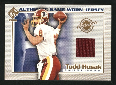 2002 Private Stock Game Worn Jerseys #45 Todd Husak