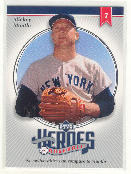 2002 Upper Deck Prospect Premieres Heroes of Baseball #HMM7 Mickey Mantle
