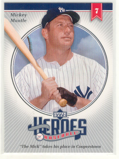 2002 Upper Deck Prospect Premieres Heroes of Baseball #HMM8 Mickey Mantle