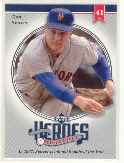 2002 Upper Deck Prospect Premieres Heroes of Baseball #HTS1 Tom Seaver