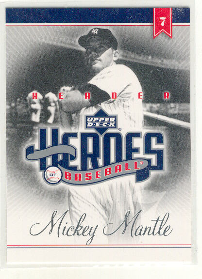 2002 Upper Deck Prospect Premieres Heroes of Baseball #HMM Mickey Mantle HDR