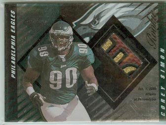 2000 Leaf Limited #424 Corey Simon J/FB/1000 RC