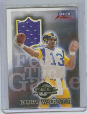 1999 Fleer Focus Feel the Game #10FG Kurt Warner