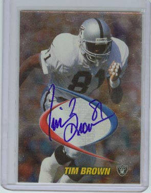1998 Collector's Edge Odyssey Prodigies Autographs #5 Tim Brown