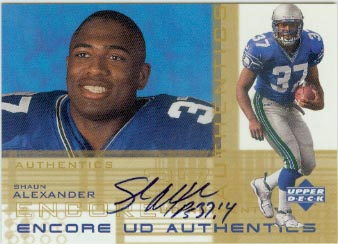 2000 Upper Deck Encore UD Authentics #SA Shaun Alexander