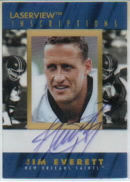 1996 Laser View Inscriptions #8 Jim Everett/3100