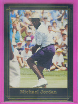 1992 Investor's Journal Black Gold Golf Card #14 Michael Jordan front image