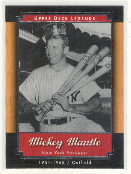 2001 Upper Deck Legends #39 Mickey Mantle