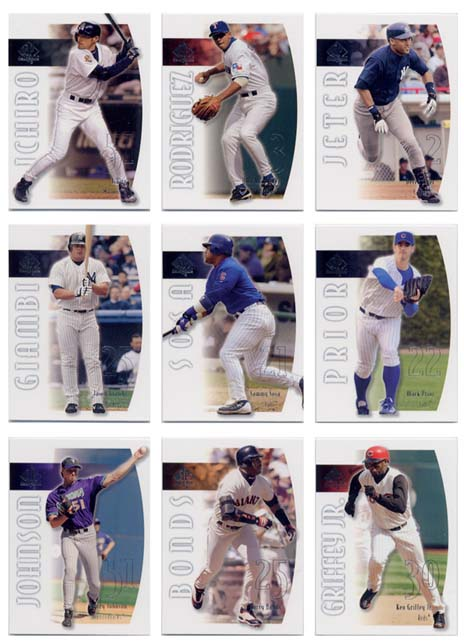2002 Upper Deck SP Authentic Baseball Complete Set
