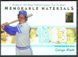 2002 Topps Tribute Memorable Materials #GB George Brett Jsy B