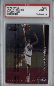 1998/99 Topps Finest #233 Larry Hughes Rookie PSA MINT 9 NICE!!