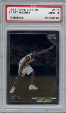 1998/99 Topps Chrome Basketball #151 Larry Hughes Rookie PSA Mint 9 NICE!!