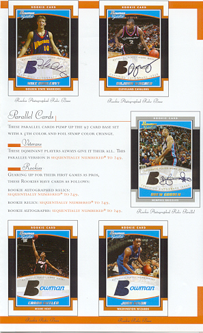 2002-03 Bowman Signature Edition NBA Basketball Pack