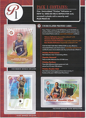 2002-03 Topps Pristine NBA Basketball Pack