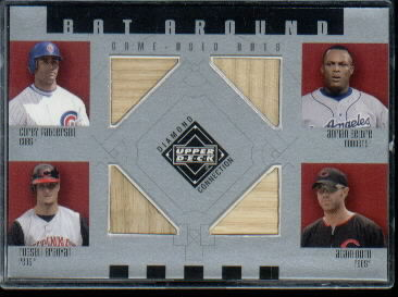 2002 Upper Deck Diamond Connection Bat Around Quads #PBBD C.Patt/Beltre/Bran/Dunn