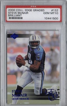 2000 Collector's Edge Graded Football #132 Steve McNair Brilliant PSA Gem Mint 10 Tennessee TITANS!!