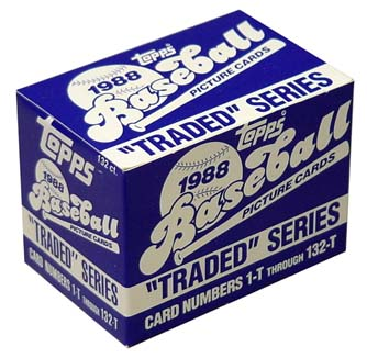1988 TOPPS TRADED BASEBALL FACTORY SET DAVID WELLS-TINO MARTINEZ-ROBERTO ALOMAR ROOKIES