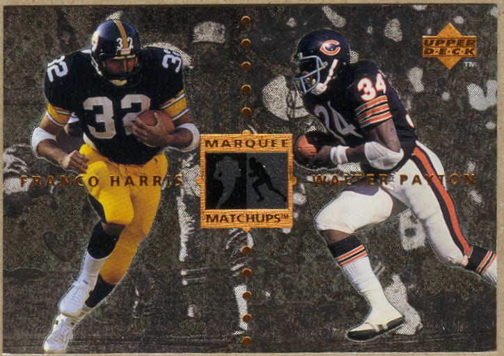 1997 Upper Deck Legends Marquee Matchups #MM9 Franco Harris/Walter Payton front image