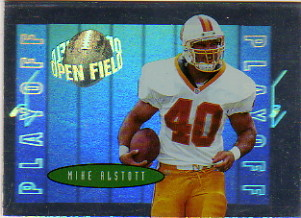 1996 Playoff Contenders Open Field Foil #40 Mike Alstott G