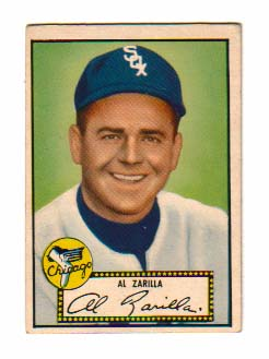 1952 Topps #70 Al Zarilla