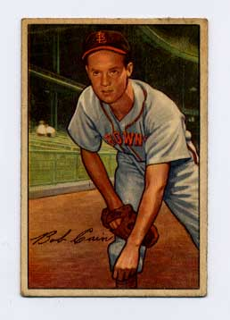 1952 Bowman #19 Bob Cain