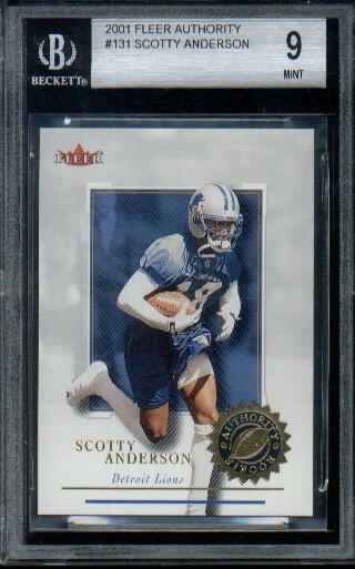 2001 Fleer Authority #131 Scotty Anderson RC