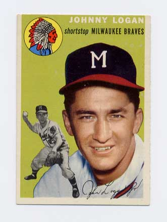 1954 Topps #122 Johnny Logan