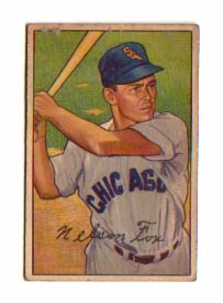 1952 Bowman #21 Nellie Fox