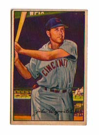 1952 Bowman #42 Johnny Wyrostek