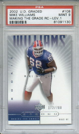 2002 UD Graded #108 Mike Williams A RC