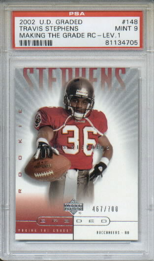 2002 UD Graded #148 Travis Stephens P RC