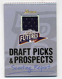 2002 Bowman Draft Fabric of the Future Relics #CC Carl Crawford