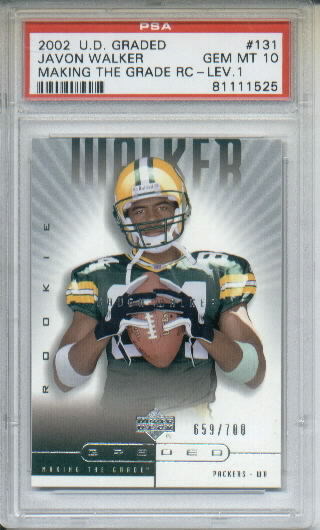 2002 UD Graded #131 Javon Walker P RC