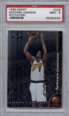 1998/99 Topps Finest Basketball #229 Antawn Jamison Rookie PSA MINT 9 NICE!!!
