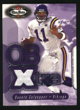 2002 Fleer Box Score QBXtra Jerseys #3 Daunte Culpepper