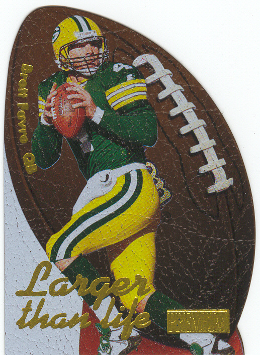 1997 SkyBox Premium Larger Than Life #9 Brett Favre