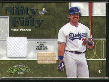 2002 Donruss Originals Nifty Fifty Combos #39 Mike Piazza Dodgers
